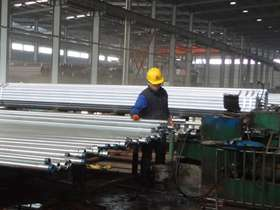 Galvanized steel  pipe with thread