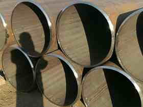LSAW welded black steel pipe for gas water oil pipeline API standard