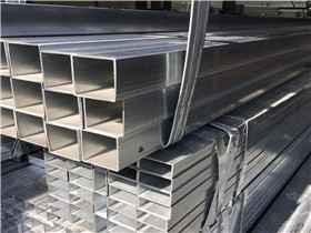 Q235B 50x50x4MM Square tube 6Mtrs Length Loading in 40feet Container