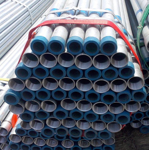 2 galvanized plumbing steel pipe Threaded Both Ends  for sale