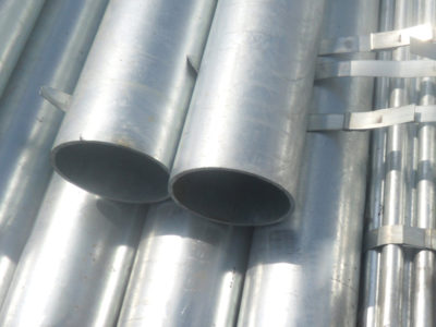 BS/EN 10255 hot dipped galvanized pipe for structure