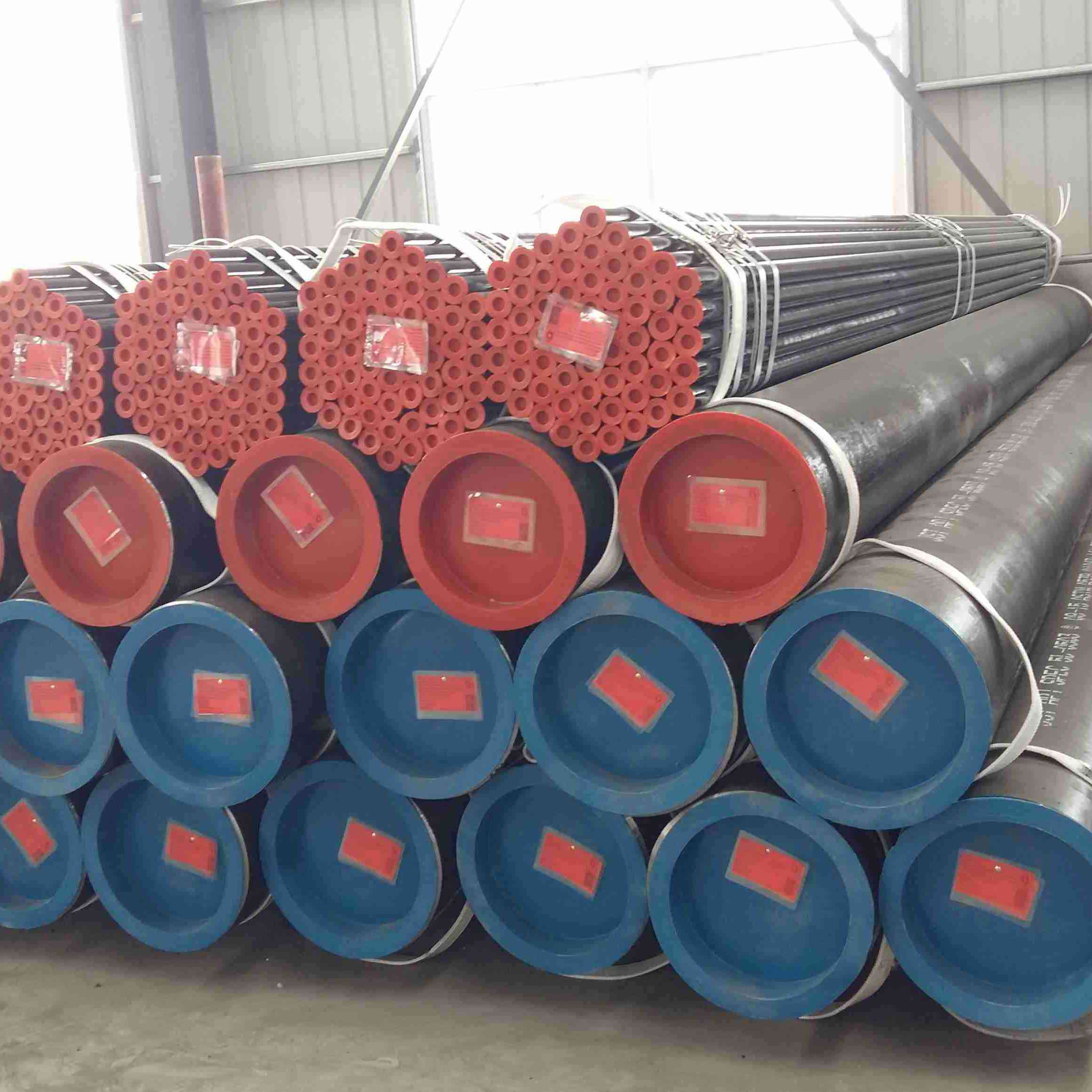 Round Carbon Seamless Steel Pipe With  Fluid  Tube